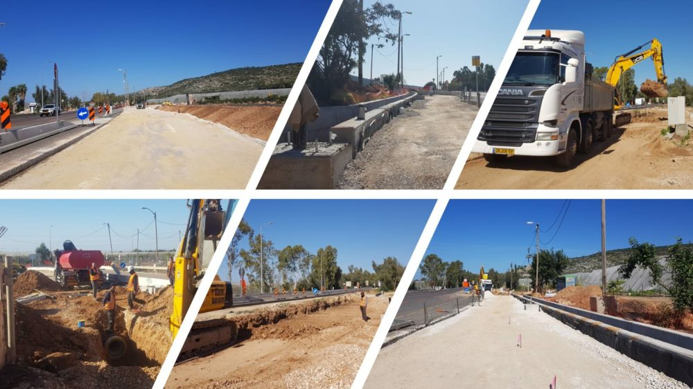 שדרוג צומת ורמזור חדש אשר יוצב בצומת עין הוד - ניר עציון, על כביש 4 (צילום: חברת נתיבי ישראל)
