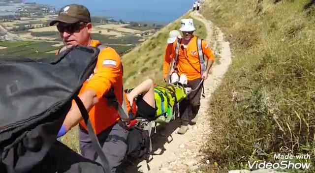 חילוץ מטיילת בשטח מצוקי | יחידת חילוץ גולן (צילום: משטרת ישראל)
