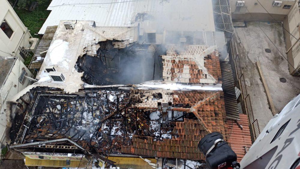 הרס גדול בשל השרפה (צילום: כבאות והצלה):