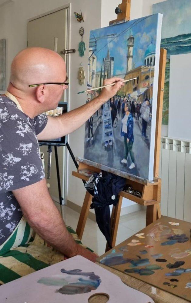 ציור בפעולה | יוסי לובלסקי
