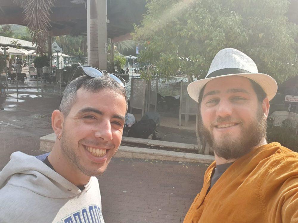שי פריזנר ואורי בנאים (צילום עצמי)