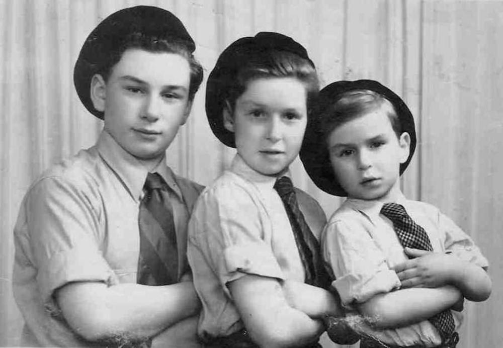אלימלך שטמלר ואחיו - יום השואה באקדמית גורדון (צילום: באדיבות המצולם)