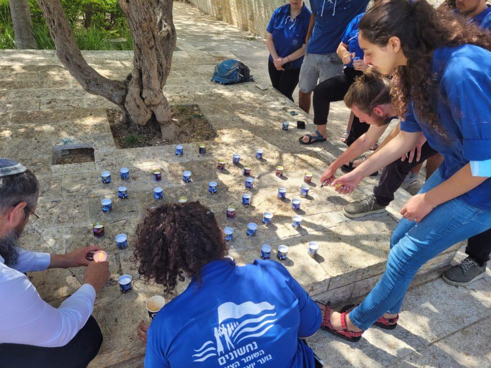 טקס זיכרון להרוגים בהר מירון של הקיבוץ העירוני של תנועת השומר הצעיר (צילום: עמית ימין)