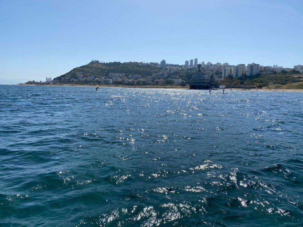 """חציית מפרץ חיפה - אירוע """"חותרי המפרץ"""" (צילום: שלמה מומו כהן)"""