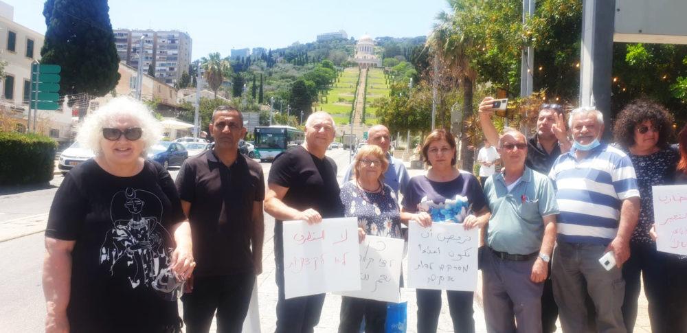 אוהל השלום בחיפה - יהודים וערבים נפגשו במושבה הגרמנית (צילום: דודי מיבלום)