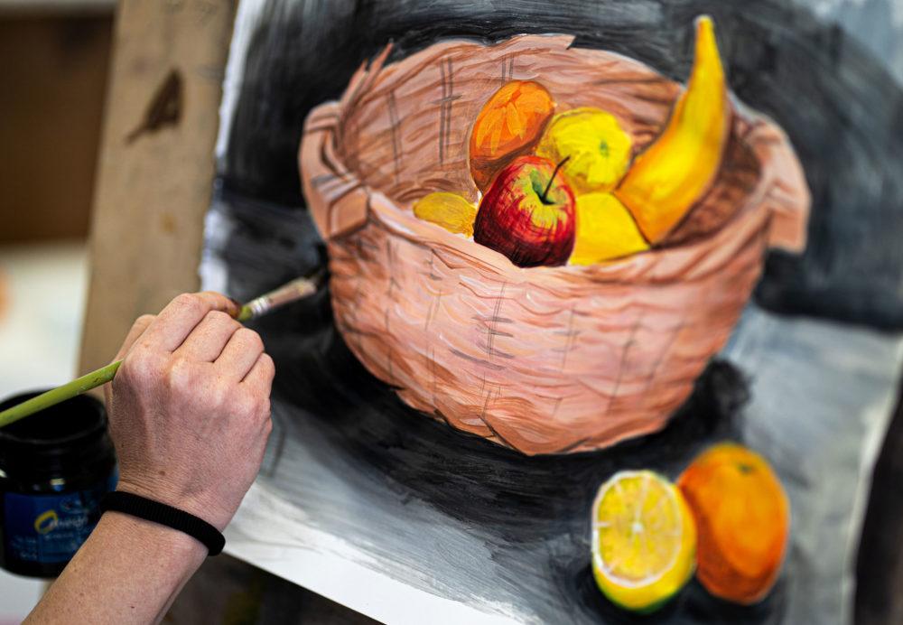 ציור טנא (צילום: ג'ני כצנר)