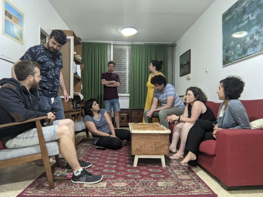 מפגש הורים מגן נחליאלי בקרית שפרינצק (צילום: רותם עטר)