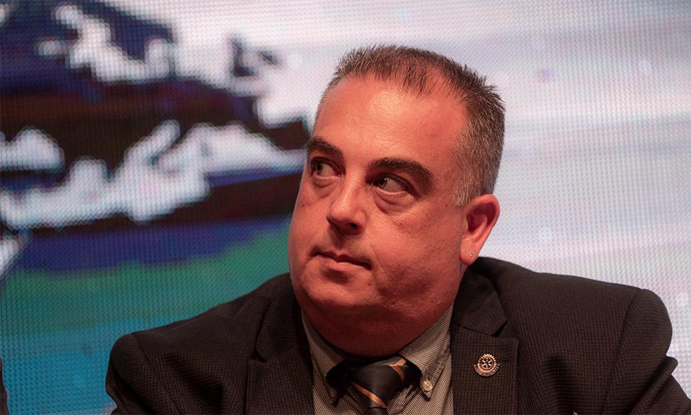 שלומי פורמן - נשיא רוטרי חיפה היוצא (צילום: ירון כרמי)