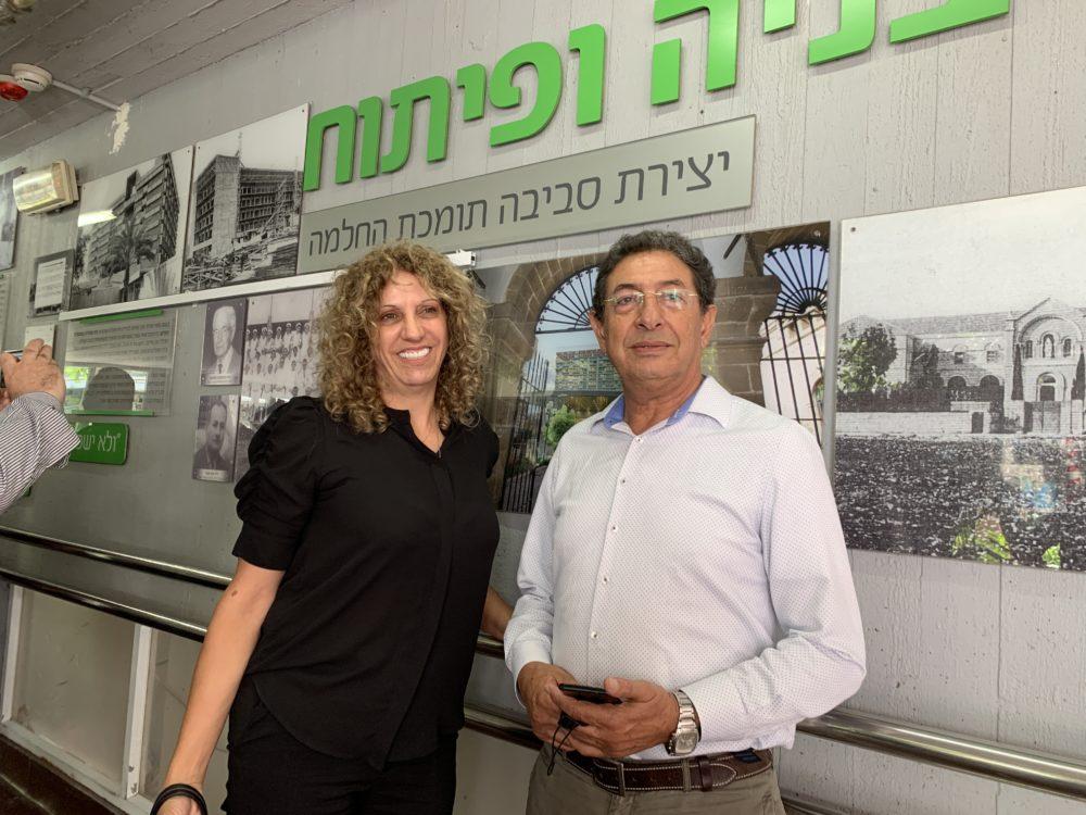 """ד""""ר אמיר ח'ניפס ומגי סקר (צילום: נגה כרמי)"""