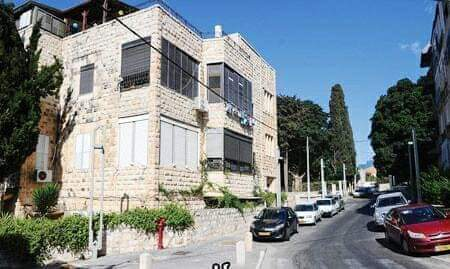 """ביתו של ד""""ר נאיף חמזה ברחוב מאיר בחיפה (צילום: ארכיון רמב""""ם)"""
