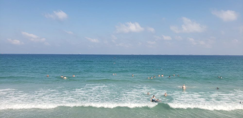 חוף קריית חיים (צילום: מוטי מנדלסון)