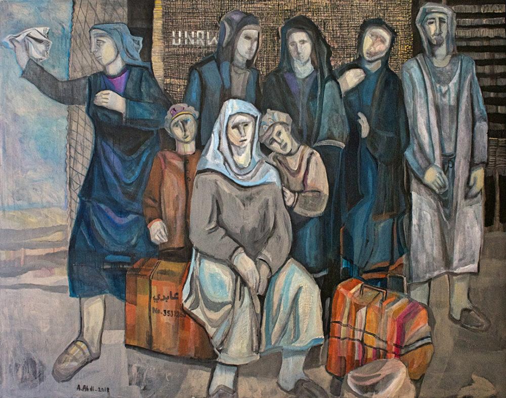 עאבד עבאדי פליטים ממתינים לשיבה2018  (צילום: מוזיאון חיפה לאמנות)