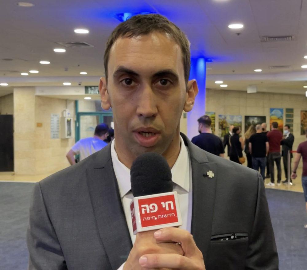 עידו מורג - חבר הנהלת העמותה - שולחן עגול 3 חיפה - ערב גאלה שנתי (צילום: ירון כרמי)