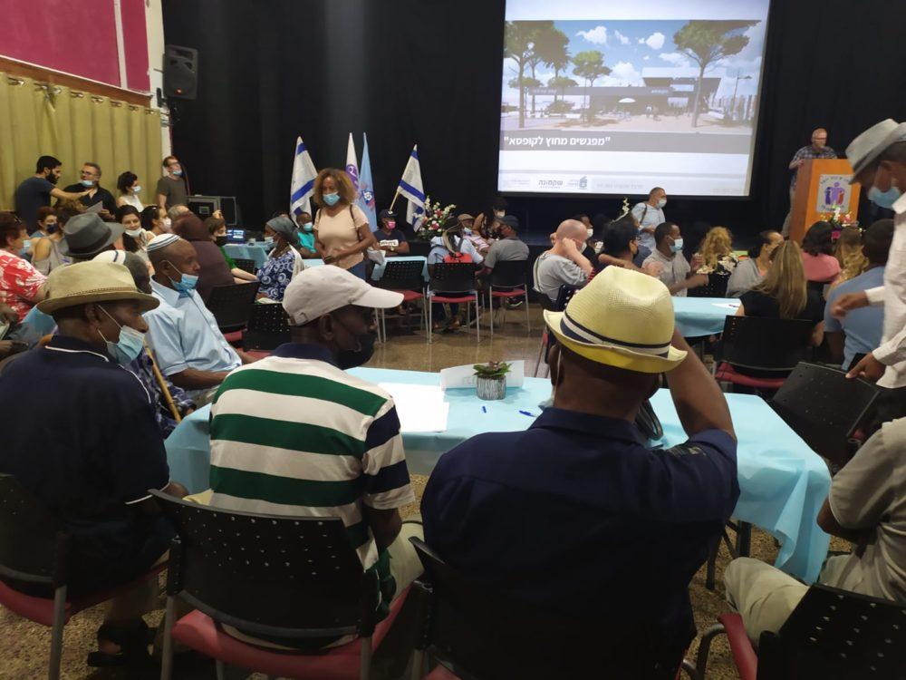 """שיתוף הציבור בהקמת המרכז הקהילתי בנוה פז (צילום: ד""""ר יריב שגיא)"""