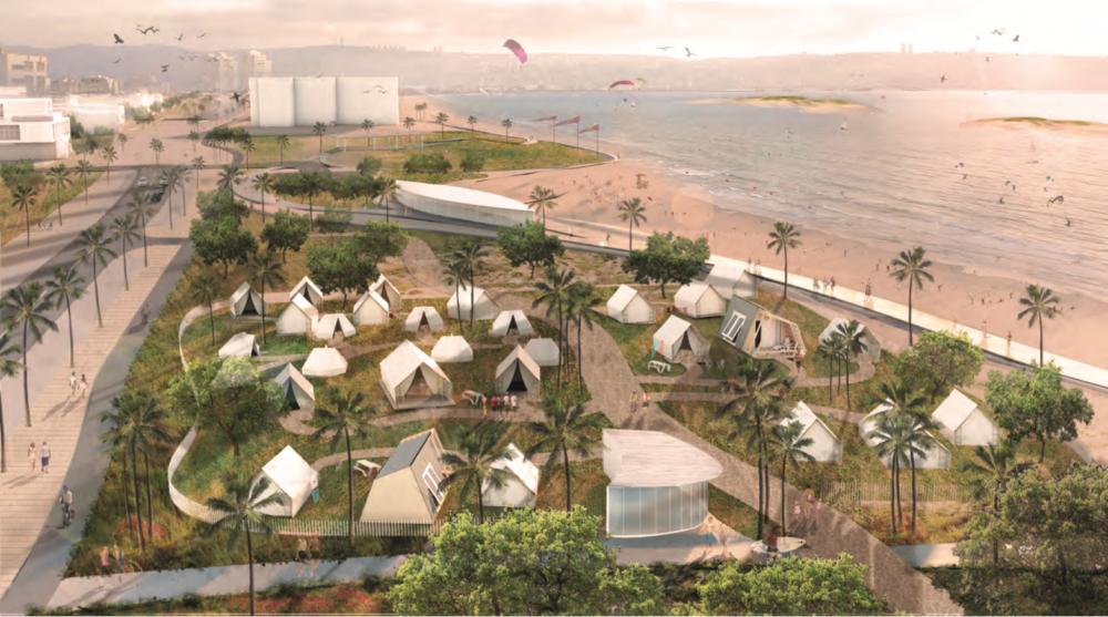 רצועת החוף - הצעה לאתר גלמפינג (צילום: מתוך אתר העירייה)