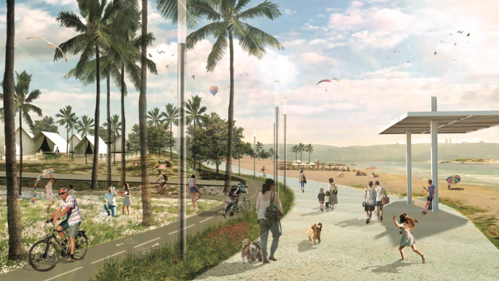 תוכנית פיתוח רצועת החוף (צילום: מתוך אתר העירייה)