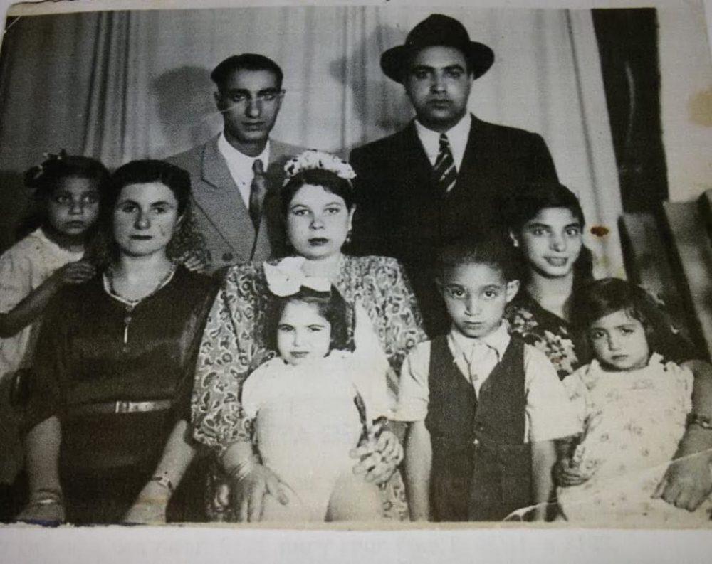 משפחה בואדי סאליב 1950 (באדיבות אלי פדידה)