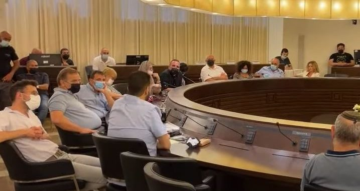 ישיבת מועצת השינוי - הדחת הסגנים 18/7/21 (צילום מסך: חי פה)