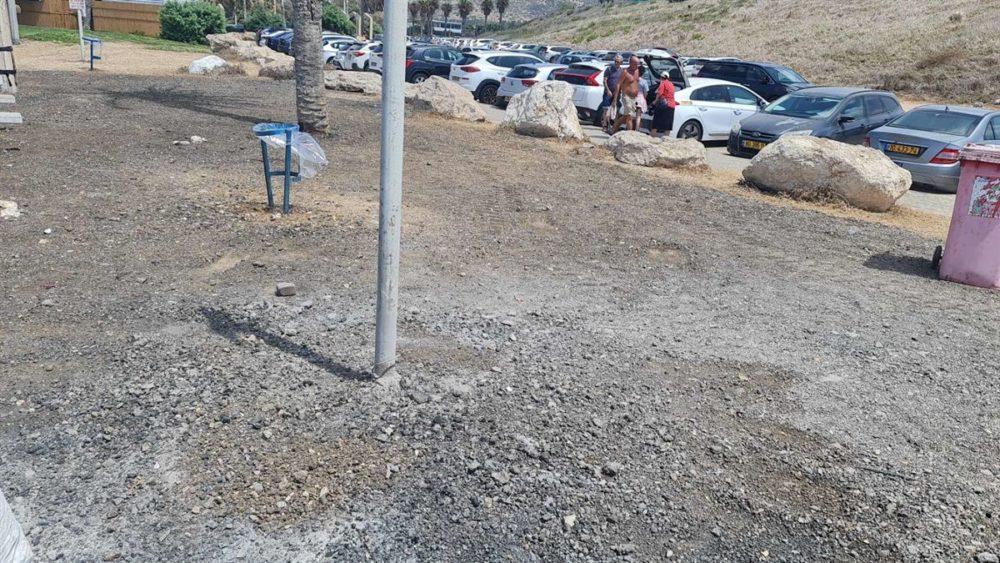 ערימת הפחם טופלה ביום 30/08/21 (צילום: עיריית חיפה)