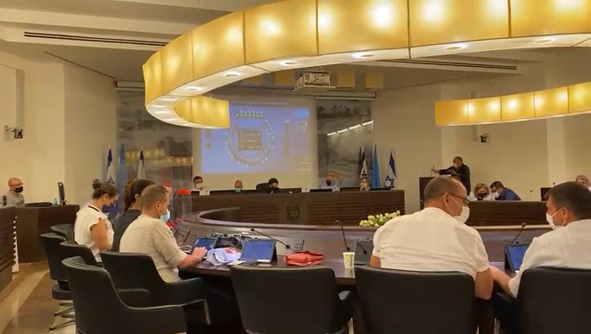 מועצת העיר חיפה (צילום: מיכל ירון)