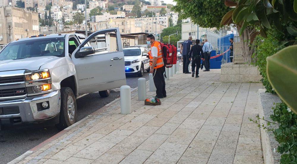 זירת פשע - פצוע קשה בחיפה עם פציעה חודרת (צילום: איחוד הצלה)