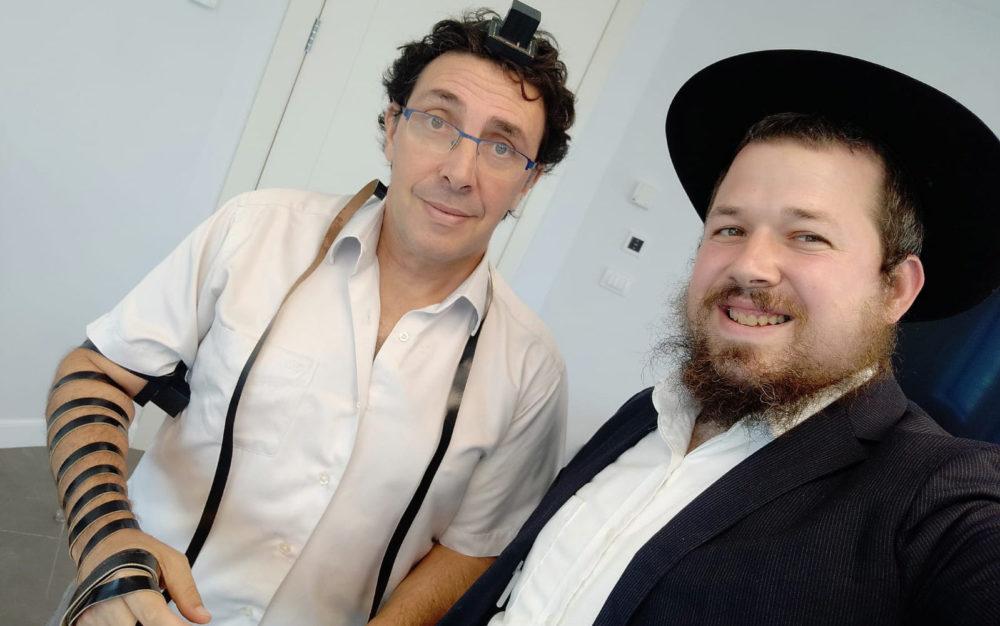 """הרב יהודה גינזבורג עם עו""""ד ליאור טומשין"""