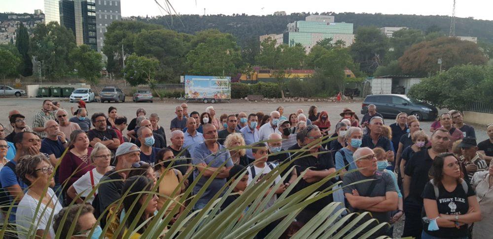 מאות השתתפו בסיור בשכונת אל-עתיקה בחיפה (צילום: ג'ורג' איסקנדר)