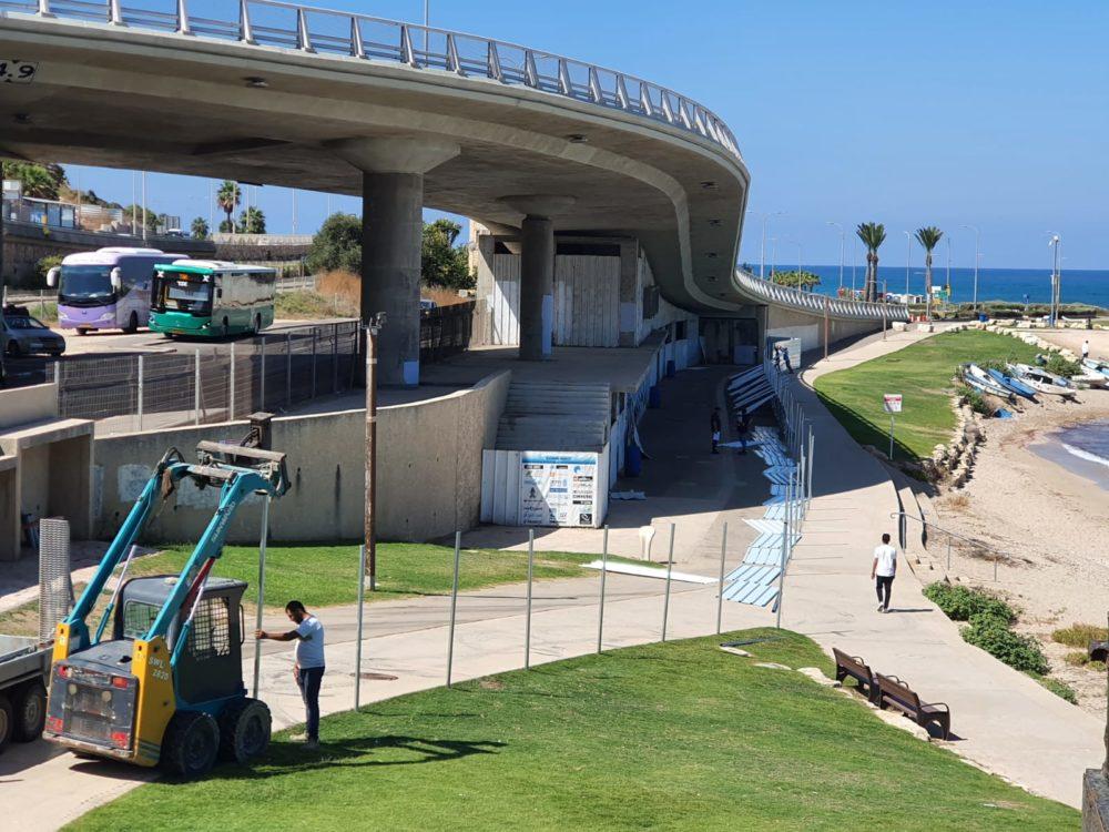 החלו עבודות הקמת המרכז הימי בבת גלים (צילום: עיריית חיפה)