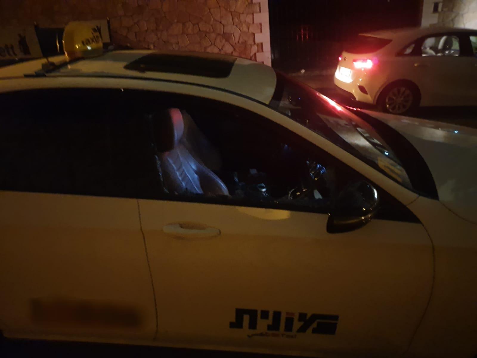 שוד במונית בחיפה (צילום: משטרת ישראל)