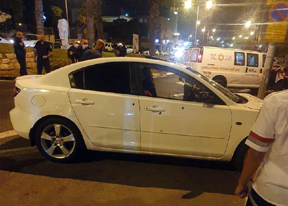 זירת חיסול בחיפה (צילום: ארגון הצלה)