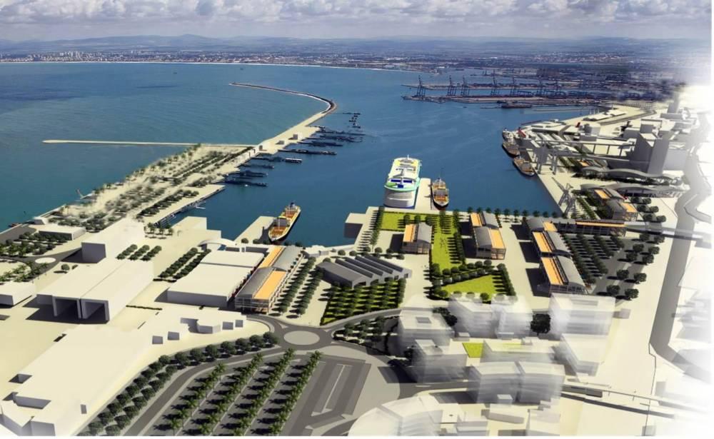 חזית הים העירונית של חיפה - מול שדרות בן גוריון - הדמיה באדיבות עיריית חיפה - 2017